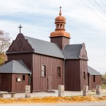 Błażejewo. Drewniany kościół św. Jakuba z 1675-76. Ledwo poznałem to miejsce! Gdzie modrzewie?