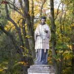 Błociszewo. Figura św. Jana Nepomucena. W ręce pierwotnie trzymał krzyż