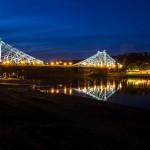 Podświetlony  most Loschwitzer