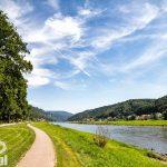 Bad Schandau droga rowerowa nad Łabą