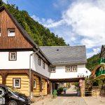 Schmilka wieś granicząca z Czechami. Na zdjęciu Gospoda