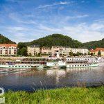 Bad Schandau. Na rzece biała flota