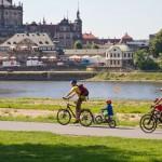 Rowerowa rodzinka – częsty widok na niemieckich szlakach