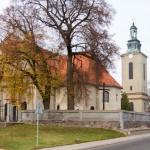 Modrze. Neobarokowy kościół