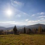 Spyrki widok na przełęcz i góry