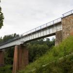 Krępa Krajeńska most kolejowy na rzece Płociczna
