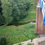 Most powstał w latach 1889, wysokość ok 30 m