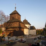 Drzeczkowo. Kościół z 1775 kryty gontami
