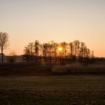 Słońce zachodzi a my ciągle w polu ;)