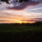 Piękny zachód słońca przed Sławnem