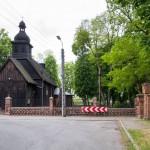 Bonikowo. Drewniany kościół pw. Św. Mikołaja z 1785 r. Przy kościele nagrobek A. Chłapowskiego.