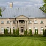 Jarogniewice. Pałac. Portyk oparty na 4 kolumnach jońskich. Obecnie Dom Pomocy Społecznej