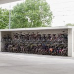 Parking dla rowerów na dworcu kolejowym