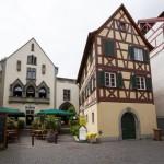 Kamieniczki w najstarszej części miasta Niederburg