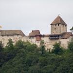 Stein am Rhein.Średniowieczny zamek Burg Hohenklingen – obecny wygląd odpowiada temu z lat 1200 do 1422.