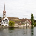 Stein am Rhein. Średniowieczna starówka z klasztorem świętego Jerzego.