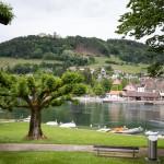 Stein am Rhein. Nad Renem, na wzgórzu zamek Hohenklingen