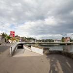 Schaffhausen. Przejazd dla rowerów poniżej lustra wody