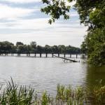Lubniewice. Kładka przez jezioro Lubiąż