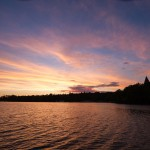 Zachód słońca nad zamkiem