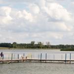 Jezioro Niepruszewskie. Położone w polodowcowej rynnie, długie na ok 5 km