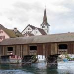Kryty, drewniany most na Renie pomiędzy Diessenhofen a Gailingen. Wyznacza granicę pomiędzy Szwajcarią a Niemcami. Szerokość pasa jezdni wynosi 2.8 metra a dopuszczalna masa przejeżdżających samochodów to 10 ton.