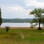 Żaglówki na jeziorze dolnym Untersee