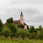 Birnau- na wzgórzu barokowy kościół