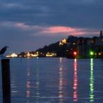 Meersburg po zachodzie słońca