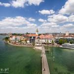 Friedrichshafen – widok z wieży ustawionej na końcu molo