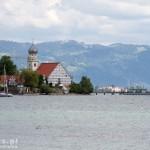 Wasserburg – kościół  św. Jerzego, w tle masz na górze Pfänder