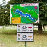 Szlak rowerowy wokół Jeziora Lubie