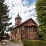 Marzęcino. Kościół o konstrukcji ryglowej z XIX w