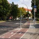 Lewoskręt na drodze rowerowej