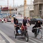 W ścisłym centrum rowerowych taksówek więcej niż samochodowych