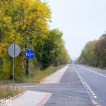 Fragment drogi rowerowej za Pasłękiem