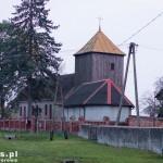 Rudki. Kościół z drewnianą wieżą
