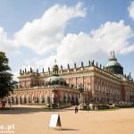 Poczdam -Nowy Pałac Neues Palais barokowy pałac w zachodniej części parku Sanssouci