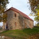 Lubiesz. Kościół pw. św. Jana Chrzciciela. Zbudowany z głazów granitowych