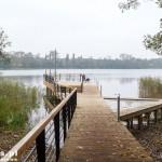 Choszczno. Nowy pomost nad jeziorem