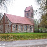 Stary Klukom. Gotycki kościół z ok XV w