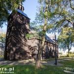 Błociszewo. Drewniany kościół zbudowany ok 1736, wielokrotnie remontowany