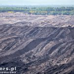 Księżycowy krajobraz odkrywkowej kopalni Nochten