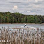 Jezioro Halbendorfer. Nad jeziorem spory kemping