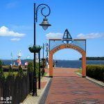 Nowe Warpno – wejście do portu jachtowego