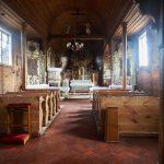 Łukowo – rokokowe wnętrze kościoła i stary obraz: Sztuka umierania
