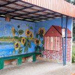 Mural na przystanku autobusowym