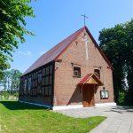 Drozdowo. Kościół ryglowy z XIX w