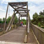 Drewniany, zwodzony most nad Kanałem Kohnscher