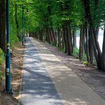 Jedziemy wzdłuż jeziora Sarcz